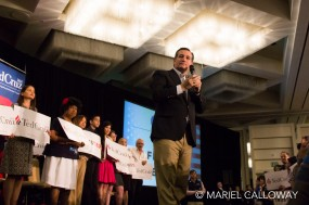 2016 Republican presidential candidate TED CRUZ speaks to supporters at a rally in Irvine, California.