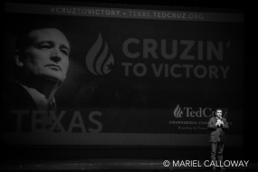 Ted Cruz speaks to supporters at a rally in Houston, TX. February 29, 2016.