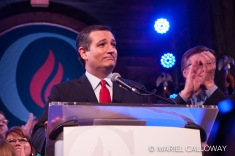 Ted Cruz speaks to supporters at a Super Tuesday watch party in Houston, TX. March 1, 2016