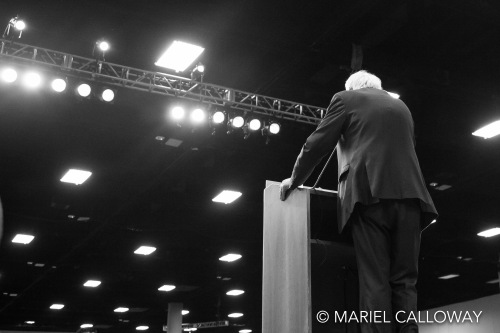 Bernie Sanders speaks to supporters at a rally in San Diego, CA